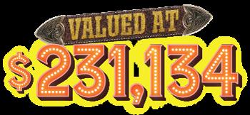 valued at $231,134